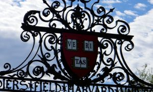 harvard university campus sports field shield logo