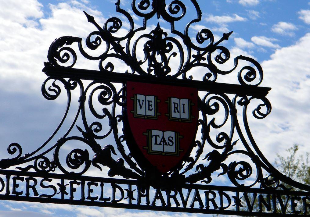harvard university campus sports field shield logo