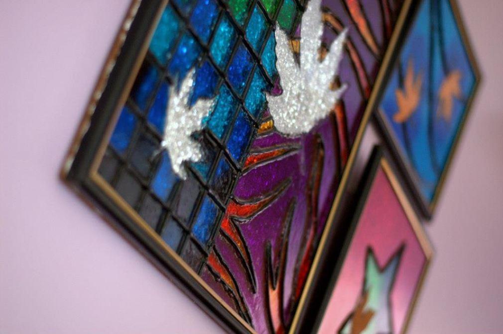 shilpa ahuja glass paintings exhibition harvard