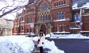 Harvard Memorial Hall University tour campus life students architecture