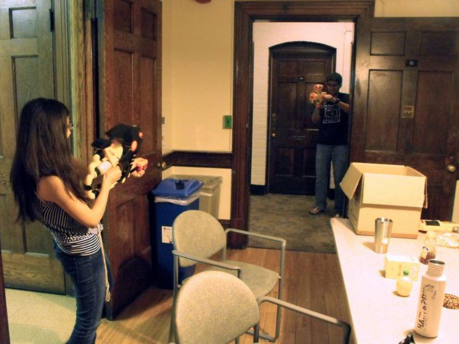 dorm kitchen friends