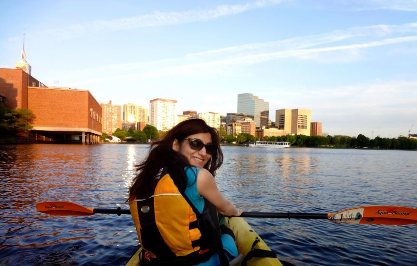 shilpa ahuja kayaking