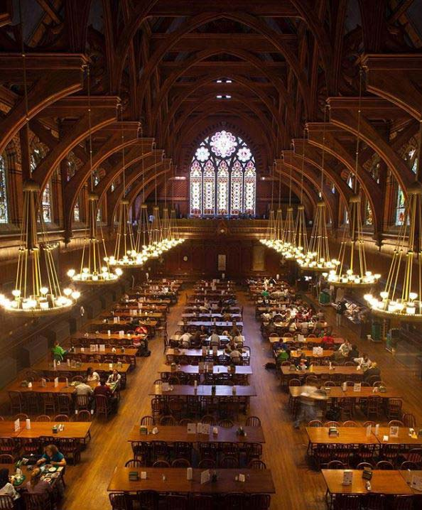 harvard university campus tour college annenberg-hall
